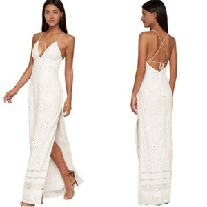 Jetset Diaries Adriatic Ivory Embroidered Maxi